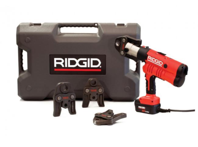 Пресс-пистолет RIDGID RP 340-C Standard + пресс-клещи V 15-18-22 мм, сетевой адаптер, кейс